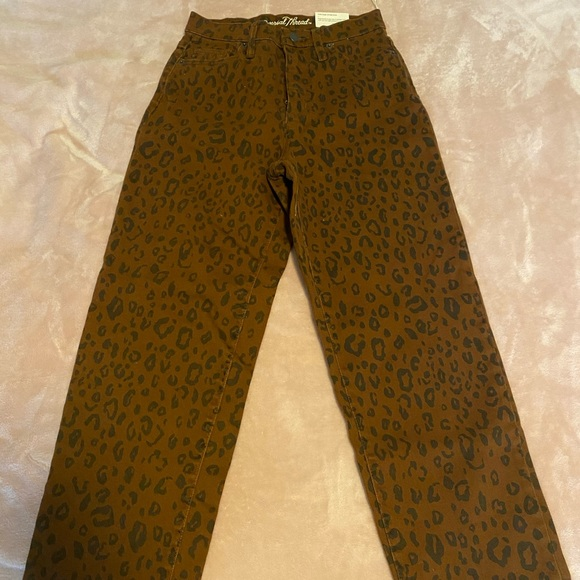 NEW Vintage Straight cheetah print jeans size 14